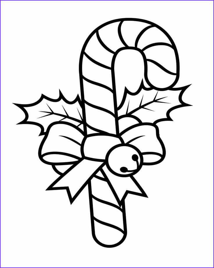 Coloring Candy Canes Best Of Photography Candy Cane Decorated with Ribbons and Teddy Coloring Pages