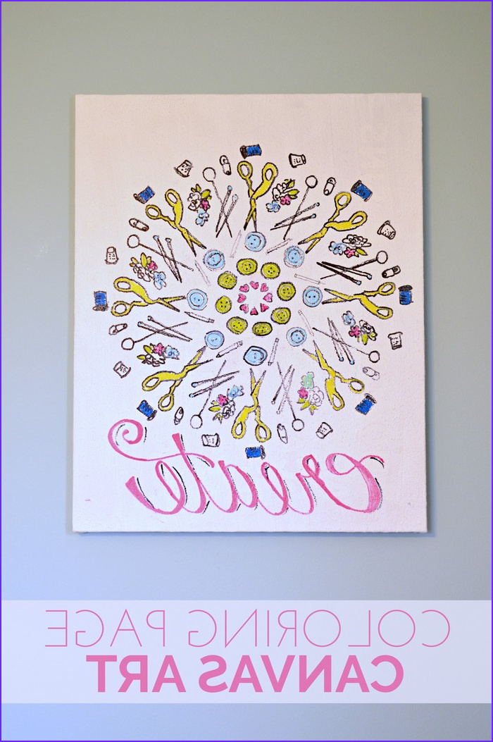 Coloring Canvas Beautiful Image Coloring Page Canvas Art Home Decor Mad In Crafts