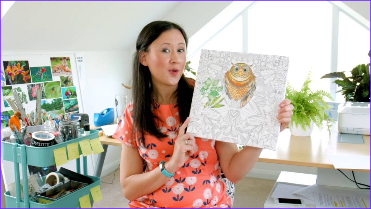 Coloring Canvas Cool Images Johanna Basford Coloring Canvas Full Tutorial