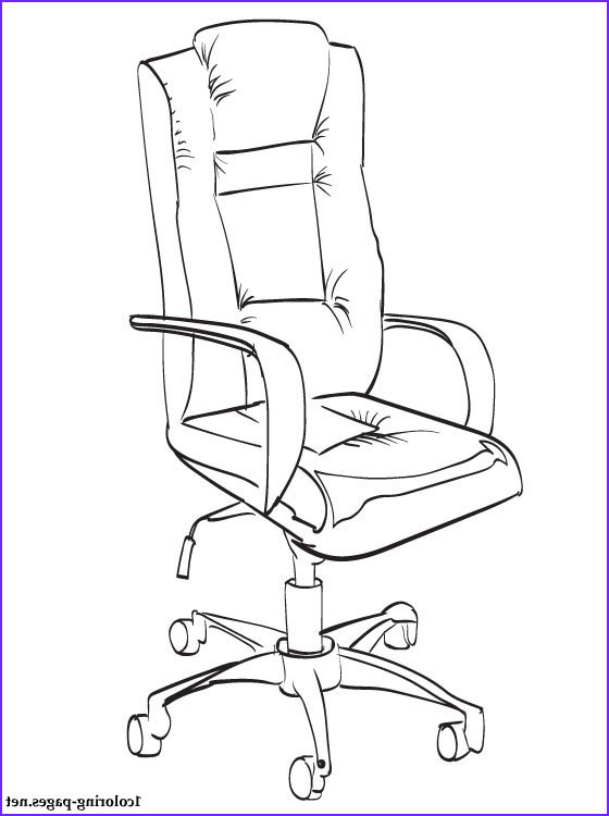 office chair coloring page