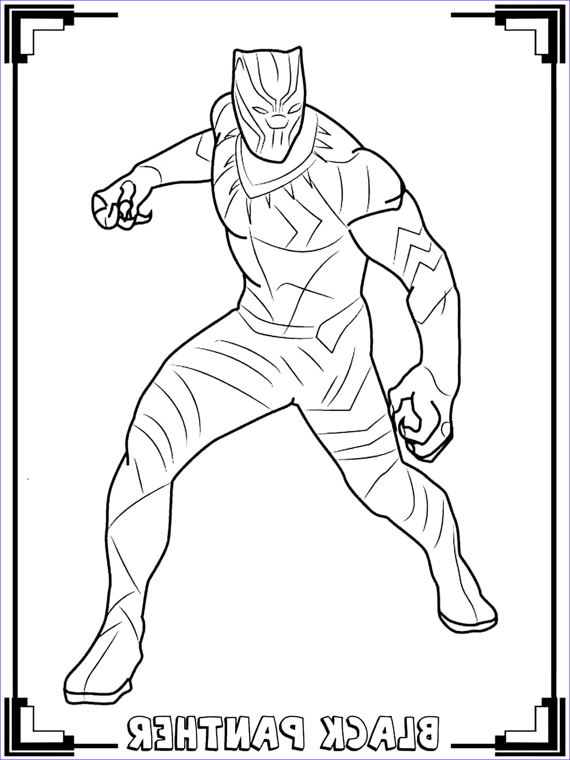 Coloring Gallery Best Of Image Black Panther Black Panther Kids Coloring Pages