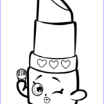 Coloring Lips Awesome Stock Beauty Lippy Lips Shopkin Coloring Page