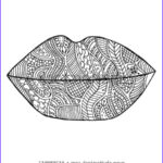 Coloring Lips Unique Gallery Kissing Lips Colouring Pages Sketch Coloring Page