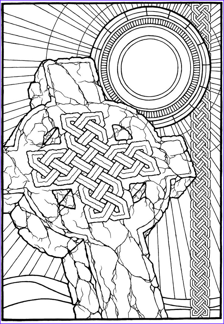 celtic and tribal type coloring pages