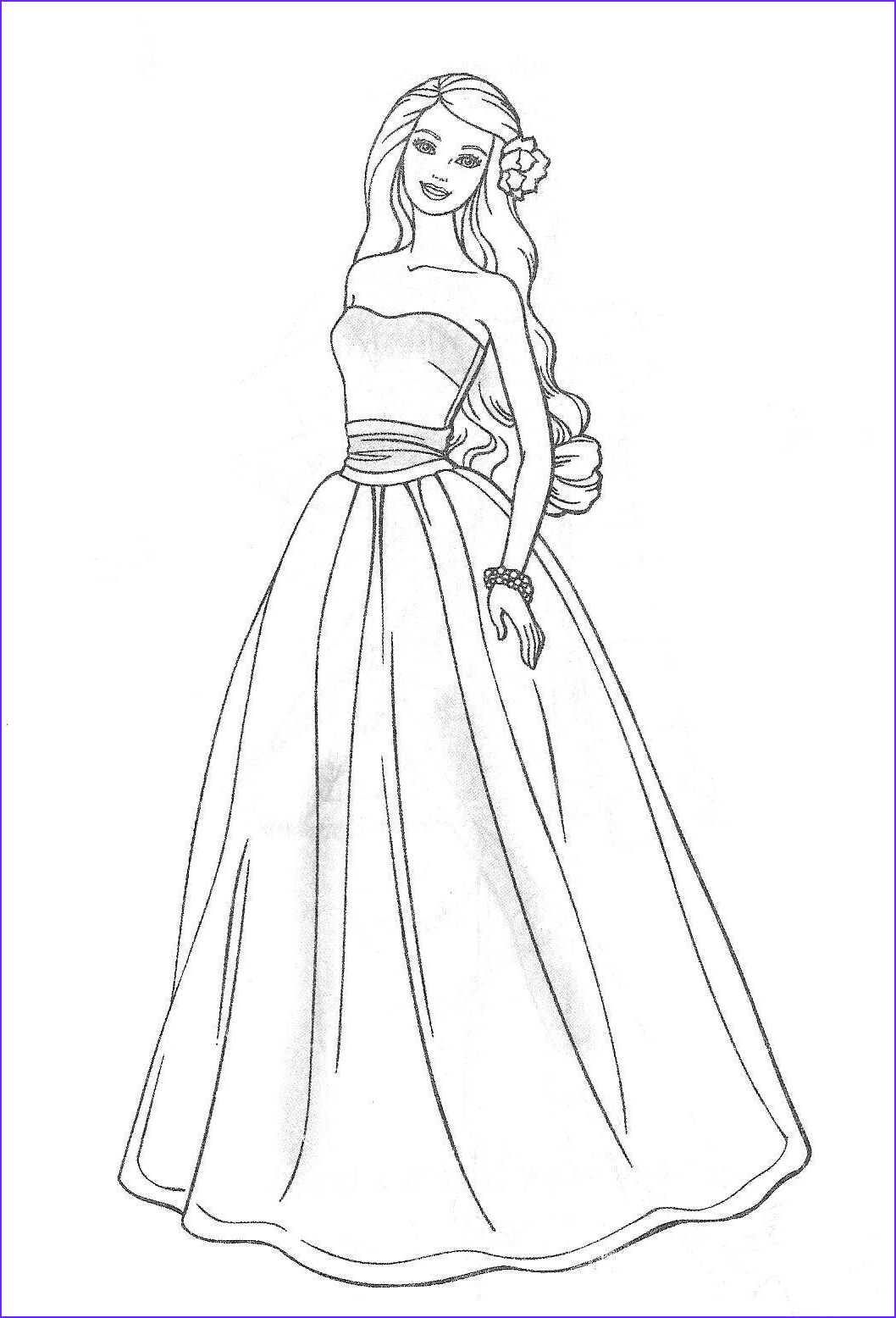 Coloring Pages Barbie Inspirational Stock Free Printable Barbie Coloring Pages For Kids