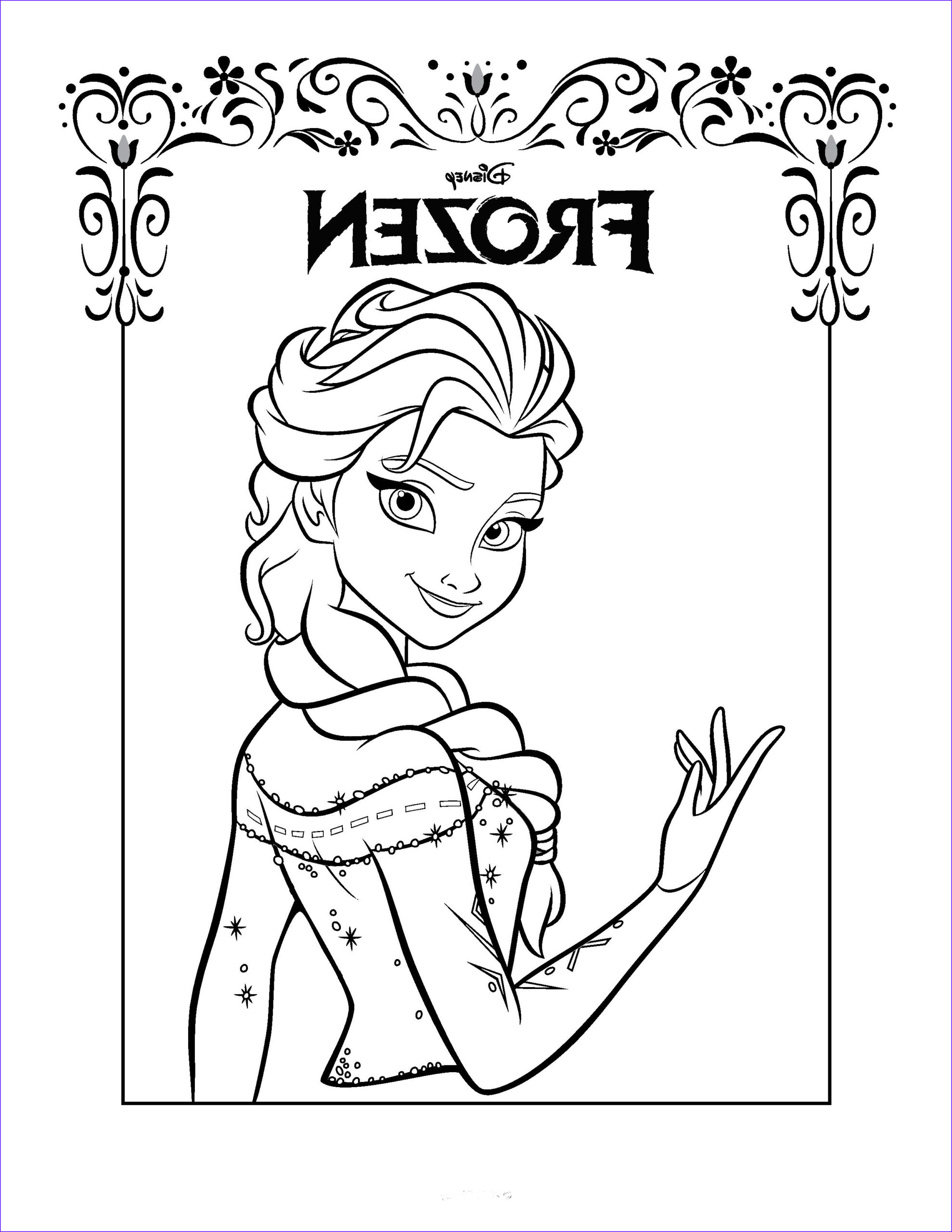 Coloring Pages For Kids Printable Unique Photos Free Printable Frozen Coloring Pages For Kids Best