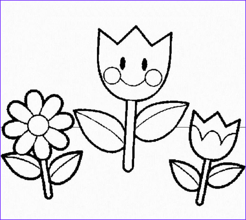 Coloring Pages for Preschoolers Beautiful Photos Flower Templates for Preschool Coloring Home