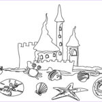 Coloring Pages For Preschoolers Beautiful Stock Beach Coloring Pages Beach Scenes & Activities