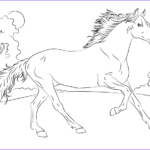 Coloring Pages Horses Awesome Gallery Running Arabian Horse Coloring Page