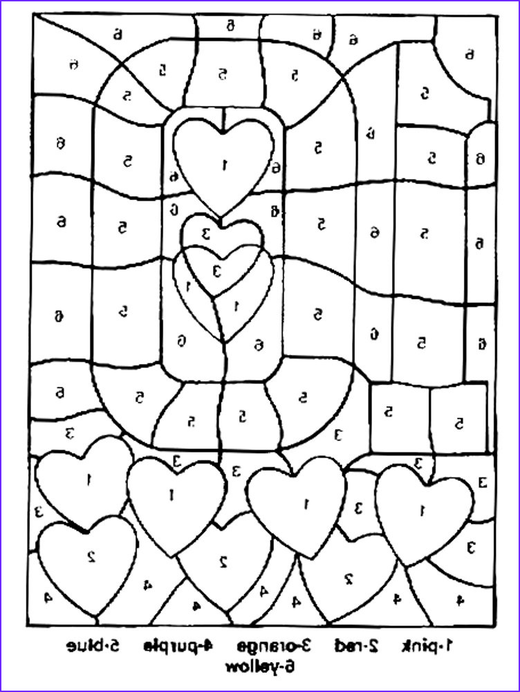 Coloring Pages with Numbers Luxury Image Free Printable Color by Number Coloring Pages Best