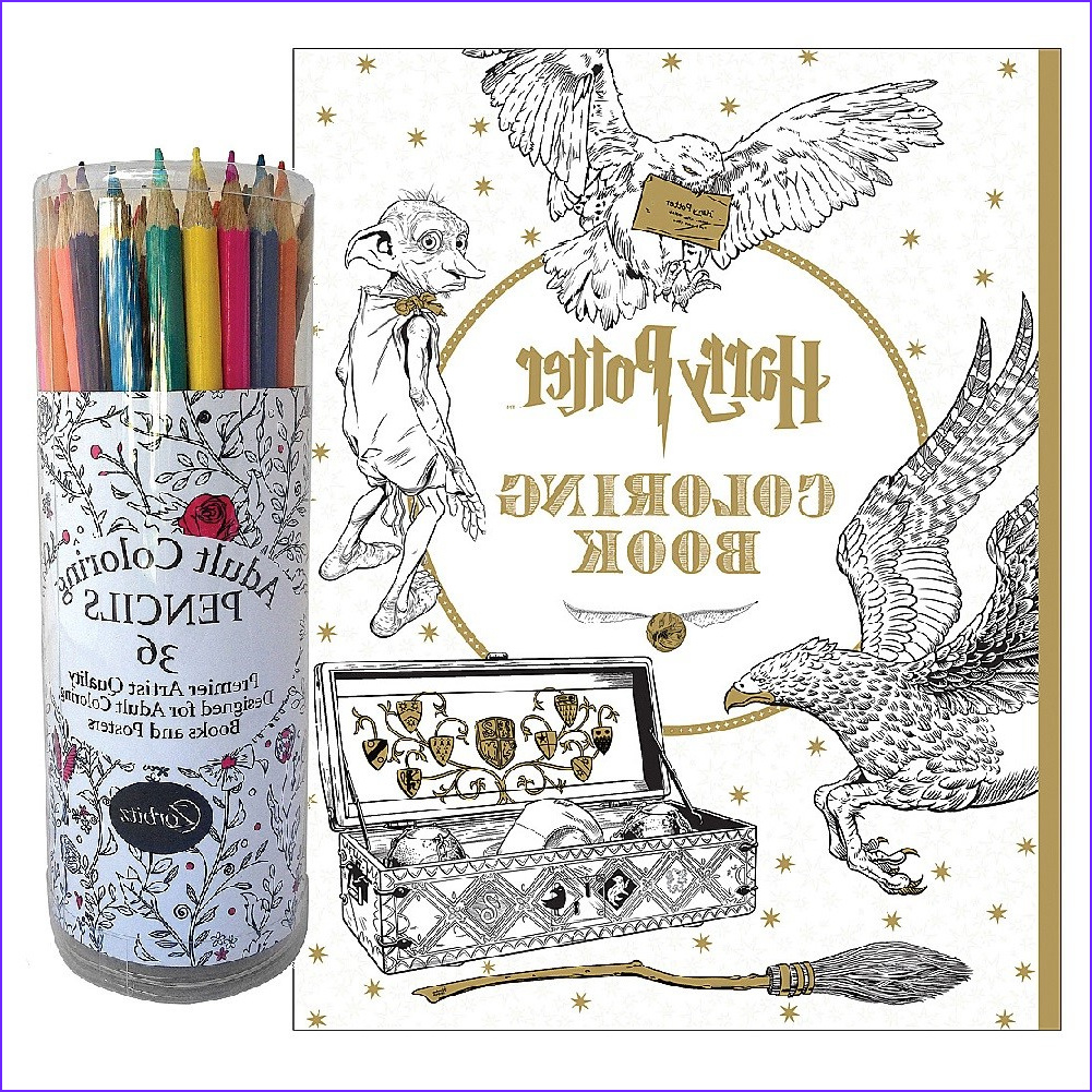 Coloring Pencils for Adult Coloring Books Awesome Photos Harry Potter Coloring Book with Movie Art and Adult