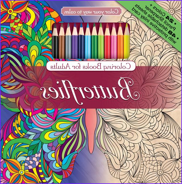 Coloring Pencils for Adult Coloring Books Cool Images butterflies Adult Coloring Book with Color Pencils Color