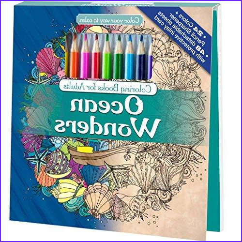 Coloring Pencils for Adult Coloring Books Luxury Gallery Ocean Wonders Adult Coloring Book Set with 24 Colored