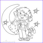 Coloring Pillow Luxury Image Coloring Page Outline Cartoon Girl In Pajamas With