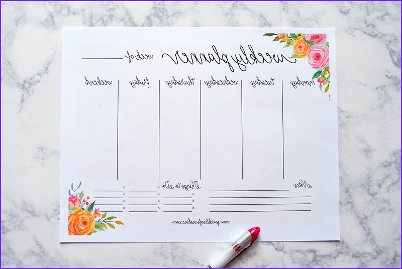Coloring Planner 2017 Beautiful Photos Free Printable 2017 Monthly Calendar And Weekly Planner