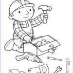 Coloring Utensils Awesome Collection Bob The Builder Preparing Tools Coloring Page
