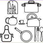 Coloring Utensils Beautiful Gallery Kitchen Utensils Coloring Page For Girls