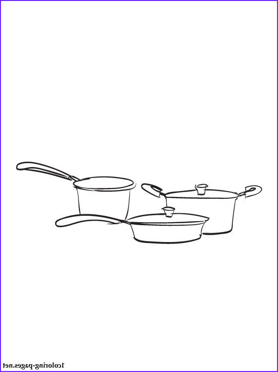 cookware coloring page