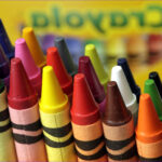 Coloring With Crayons Cool Photos Crayola Announces It Will Retire Dandelion From Its Iconic