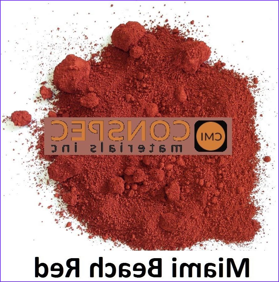 Concrete Coloring Pigments Beautiful Photography Red Concrete Color Pigment Colorant Miami Beach Red for