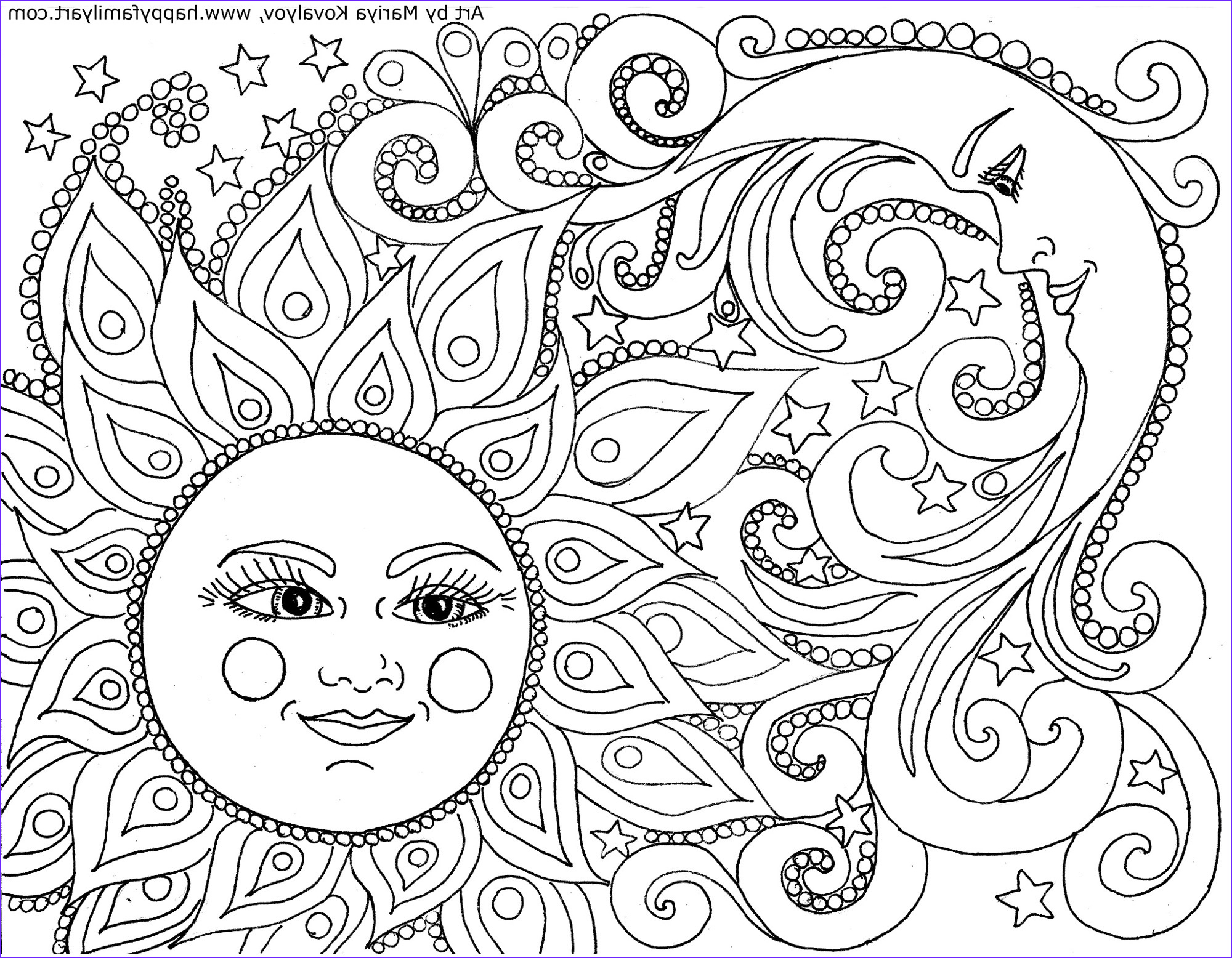 15 New Cool Adult Coloring Pages Collection