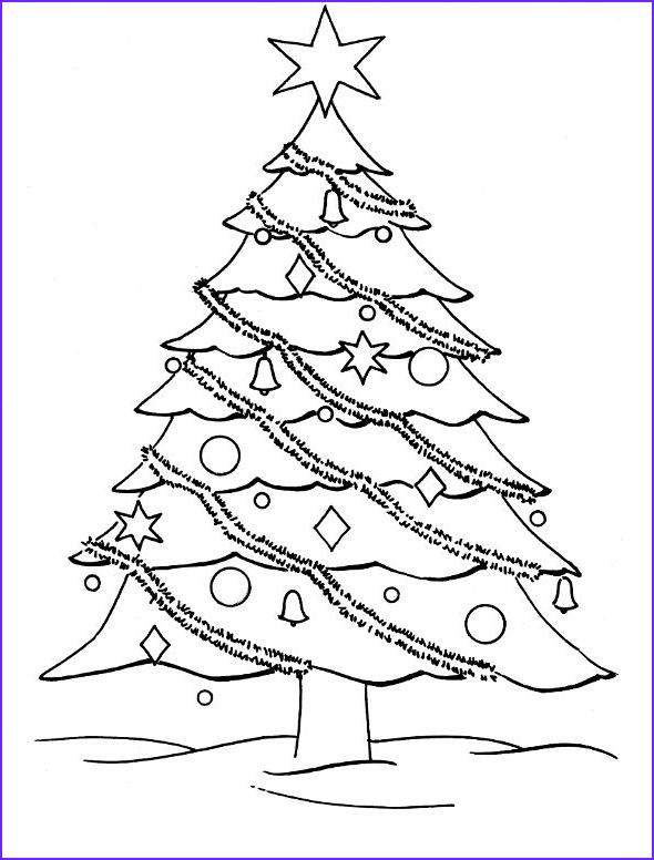 Cristmas Tree Coloring Elegant Images Christmas Coloring Pages