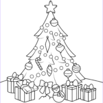 Cristmas Tree Coloring Luxury Gallery Christmas Tree With Presents Coloring Page
