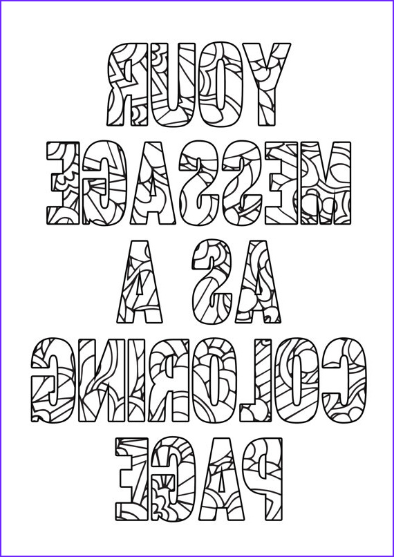 Personalized coloring page Printable A4 coloring page