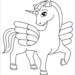 Cute Unicorn Coloring Pages Inspirational Images Cute Winged Unicorn Coloring Page