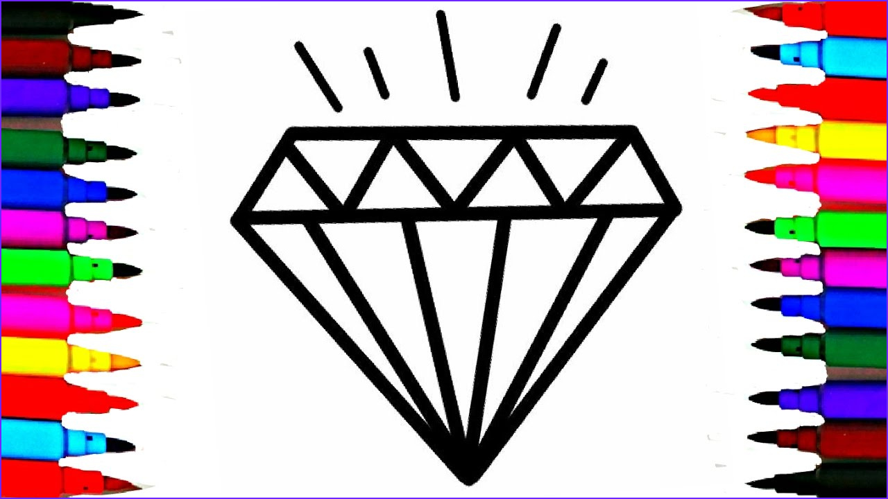 Diamond Coloring Pages Awesome Stock Crystals Jems Diamond Coloring Pages L How to Draw and