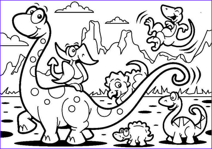 Dinosaur Coloring Pages For Toddlers Awesome Collection Free Coloring Sheets Animal Cartoon Dinosaurs For Kids