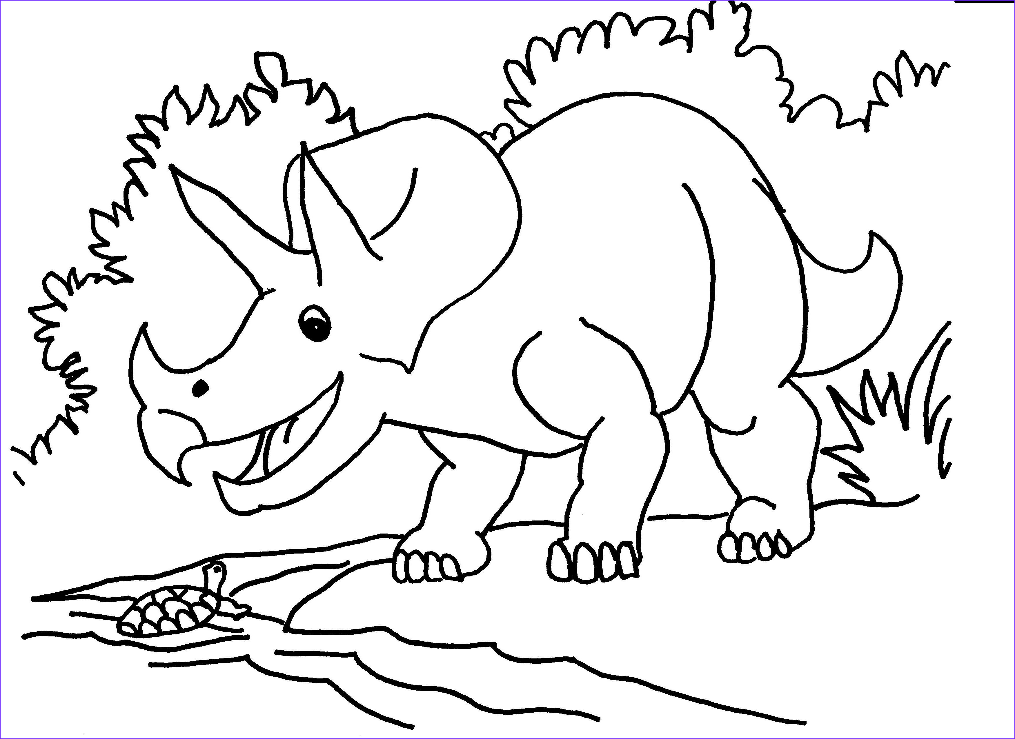 triceratops coloring pages