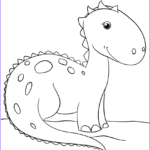 Dinosaur Coloring Pages For Toddlers Inspirational Image Cute Cartoon Dinosaur Coloring Page