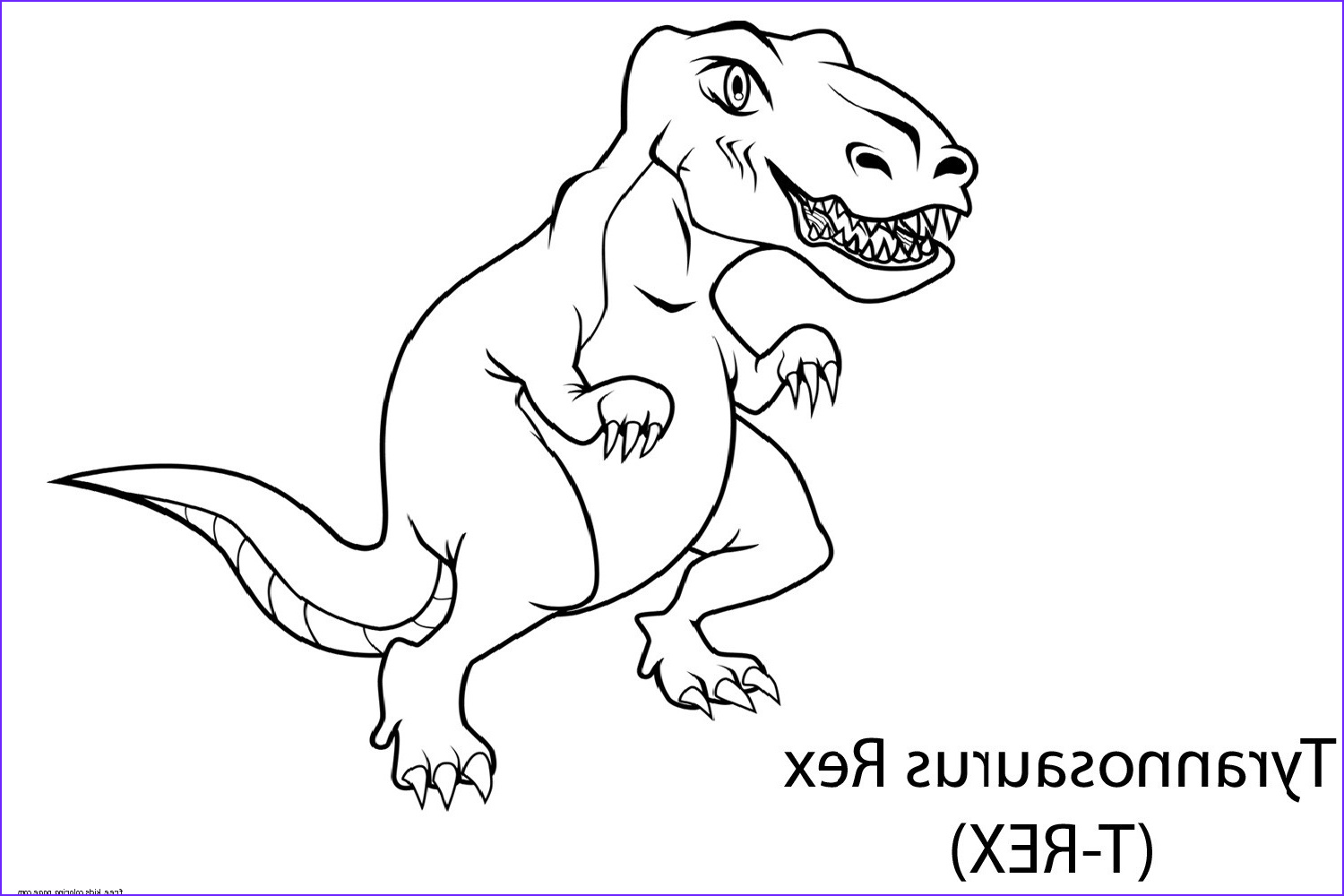 dinosaur tyrannosaurus rex coloring book pages for kids