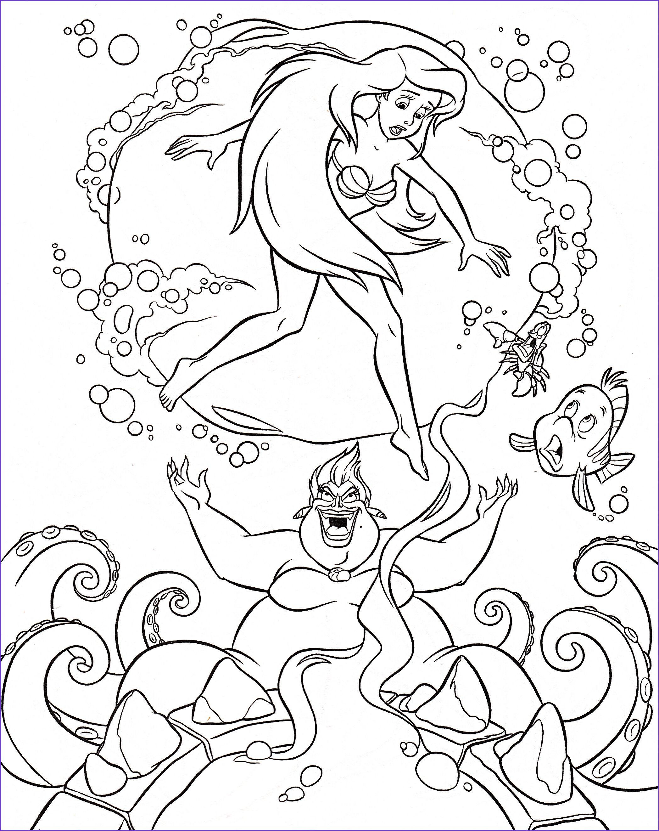 Disney Adult Coloring Pages New Gallery Walt Disney Coloring Pages Flounder Sebastian Princess