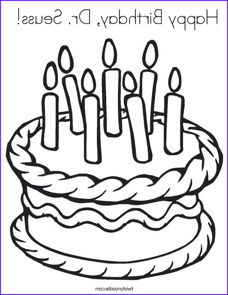 Dr.seuss Coloring Book Beautiful Images Happy Birthday Dr Seuss Coloring Page Twisty Noodle