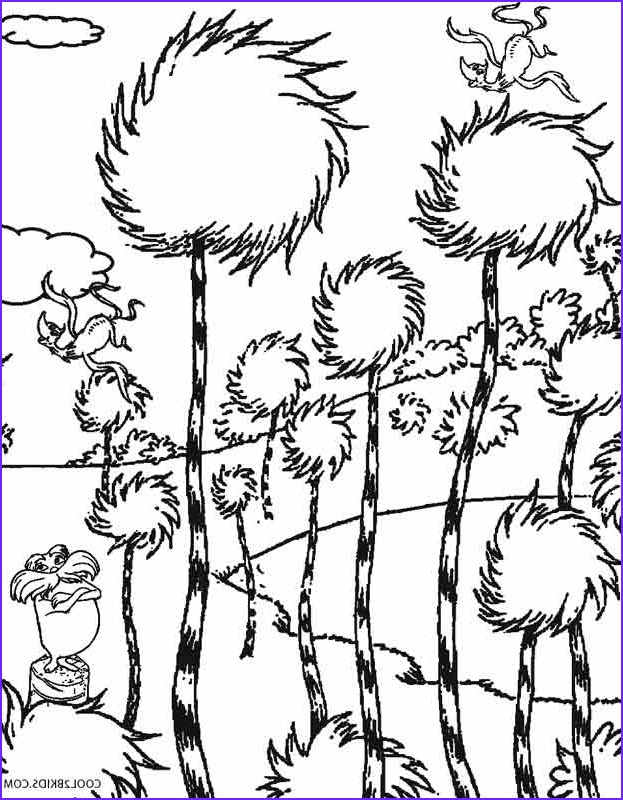 Dr.seuss Coloring Book Elegant Stock Printable Lorax Coloring Pages for Kids