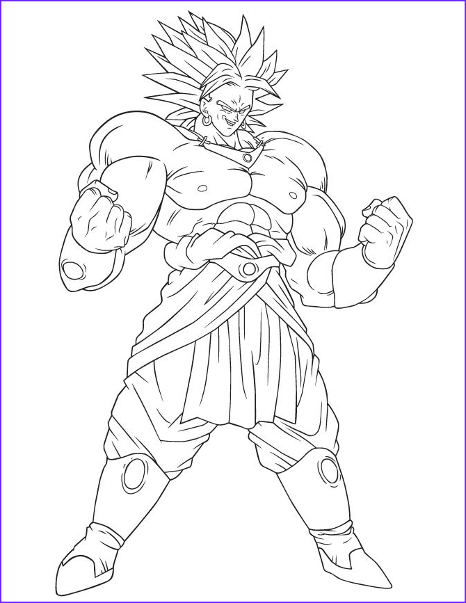Dragon Ball Coloring Pages New Photos Dragon Ball Broly Coloring Page Coloring Pages