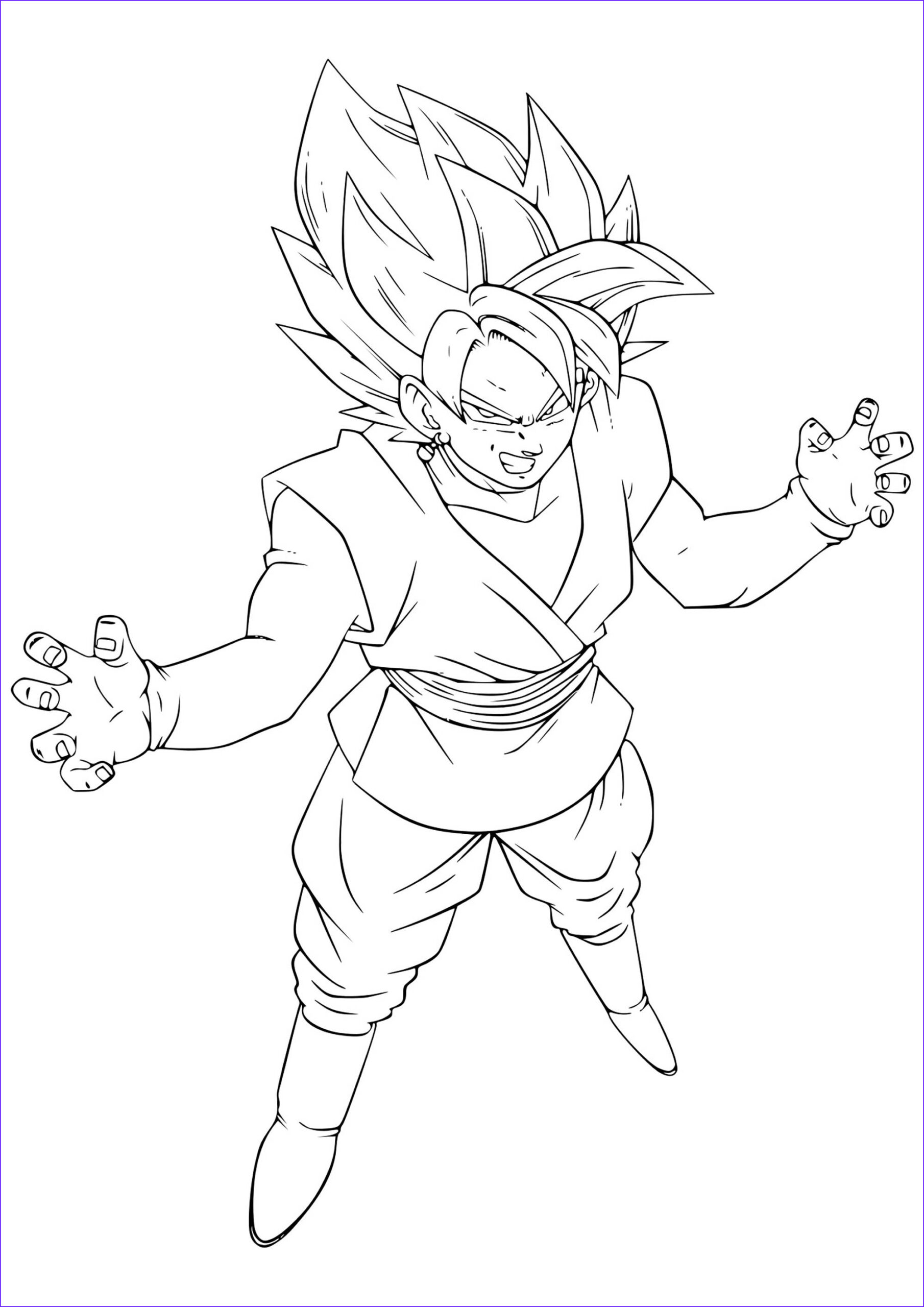 Dragon Ball Z Coloring Pages Beautiful Photos Black Pink Goku Dragon Ball Z Kids Coloring Pages