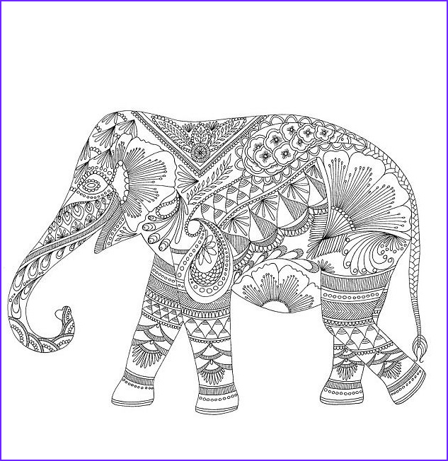 Elephant Coloring Pages for Adults Inspirational Collection Pin by Shreya Thakur On Free Coloring Pages