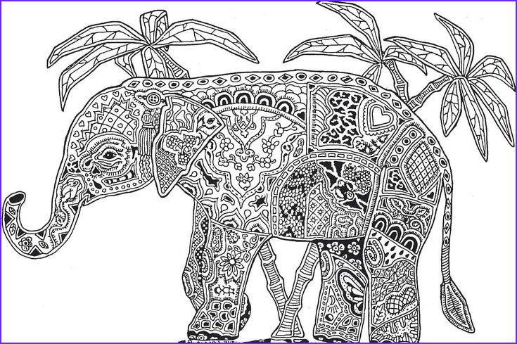 Elephant Coloring Pages for Adults Luxury Photos Abstract Elephant Coloring Pages for Adults Flower