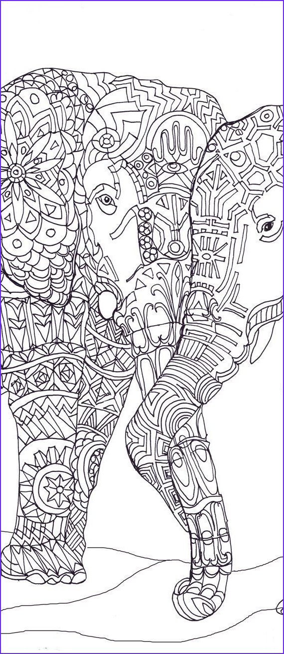 Elephant Coloring Pages for Adults New Photos Elephant Clip Art Coloring Pages Printable Adult Coloring
