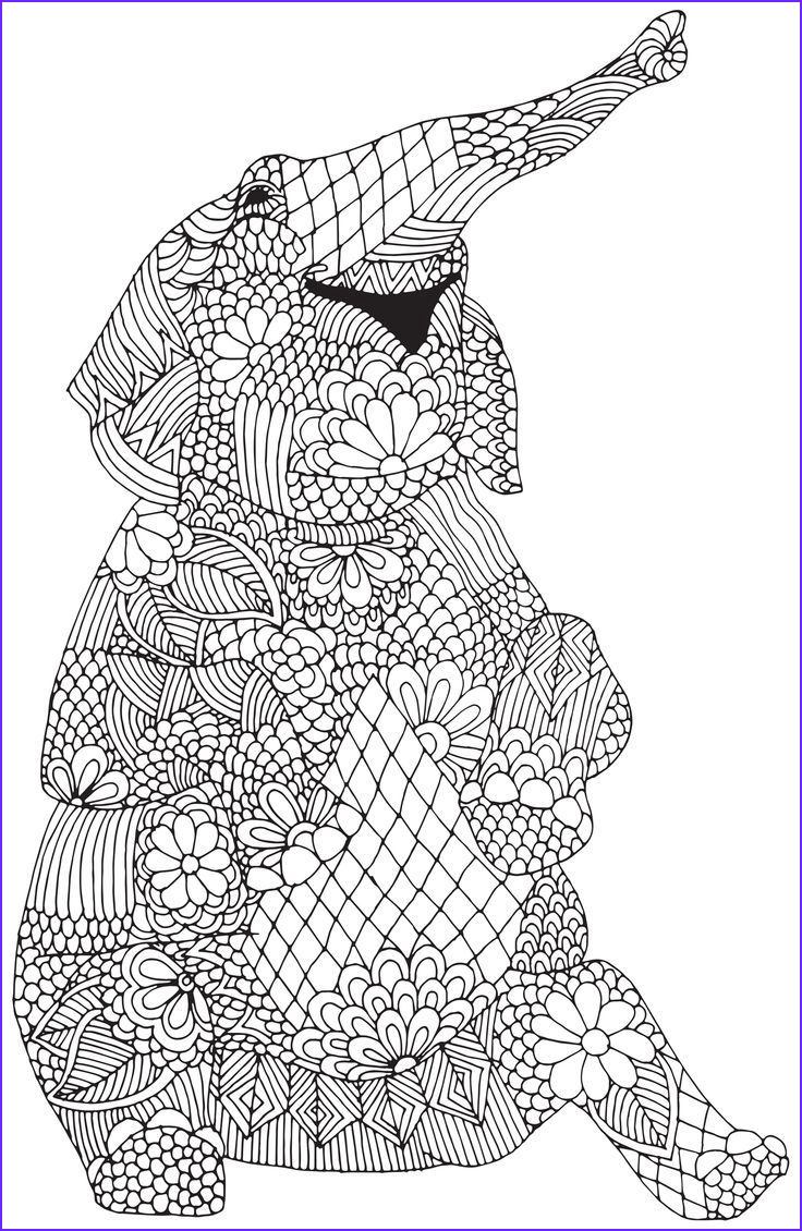 Elephant Coloring Pages for Adults New Photos Pin by Shreya Thakur On Free Coloring Pages