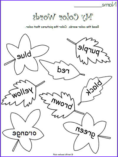 Fall Coloring Pages for Kindergarten New Stock Free Color Worksheet Kindergarten Fall Leaves