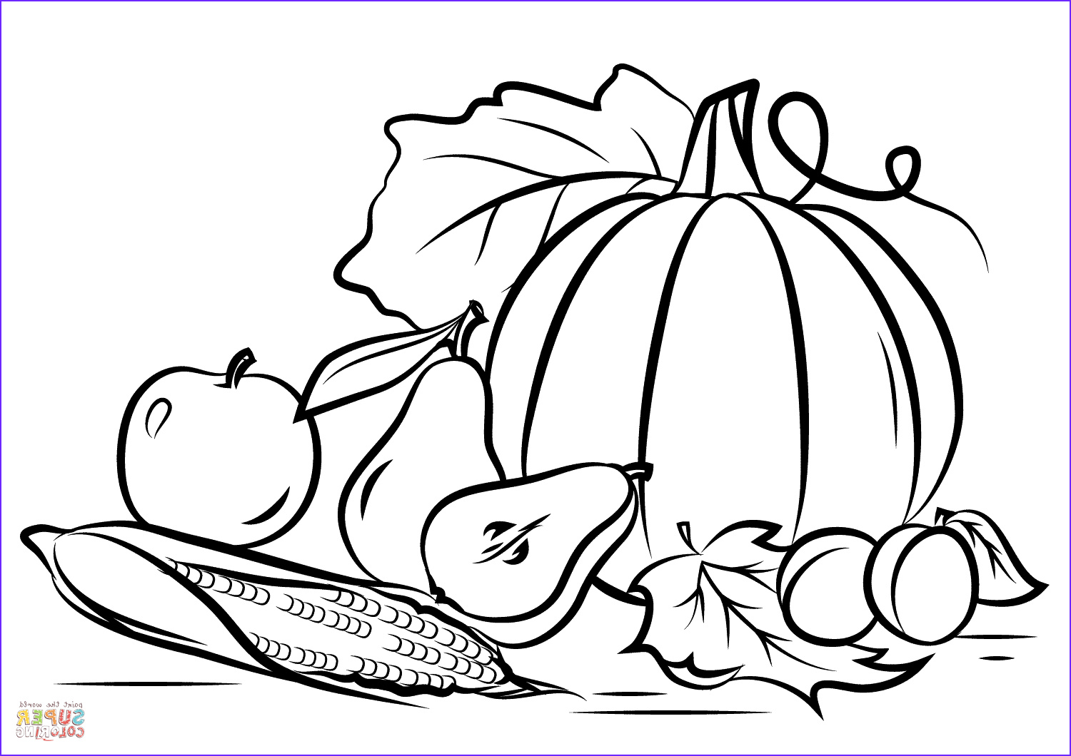 Fall Coloring Pictures Awesome Photos Autumn Harvest Coloring Page