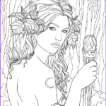 Fantasy Coloring Books Inspirational Image Fairy Adult Coloring Page Source