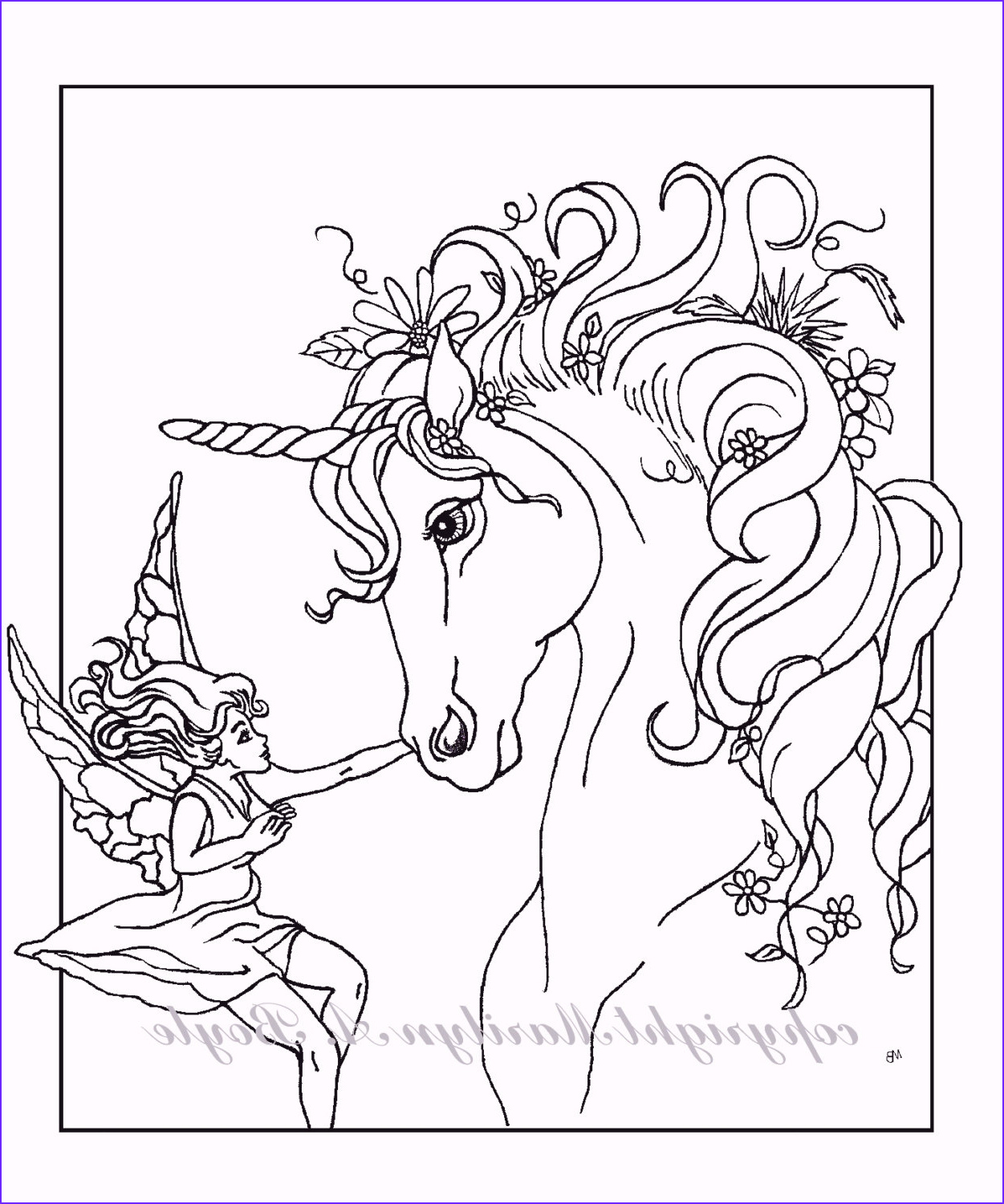 Fantasy Coloring Books Luxury Collection Adult Coloring Page Fantasy Unicorn Fairy Digital