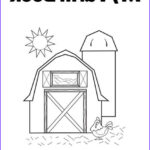 Farm Coloring Book Awesome Stock Barn With Hen Coloring Page