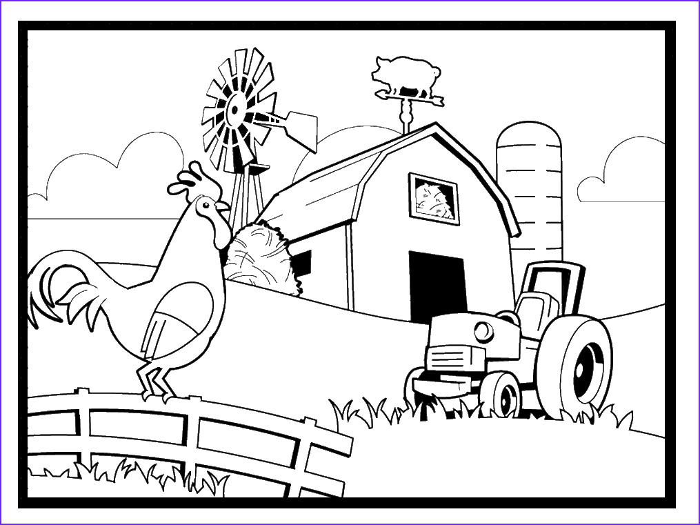 coloring pages farming scenes