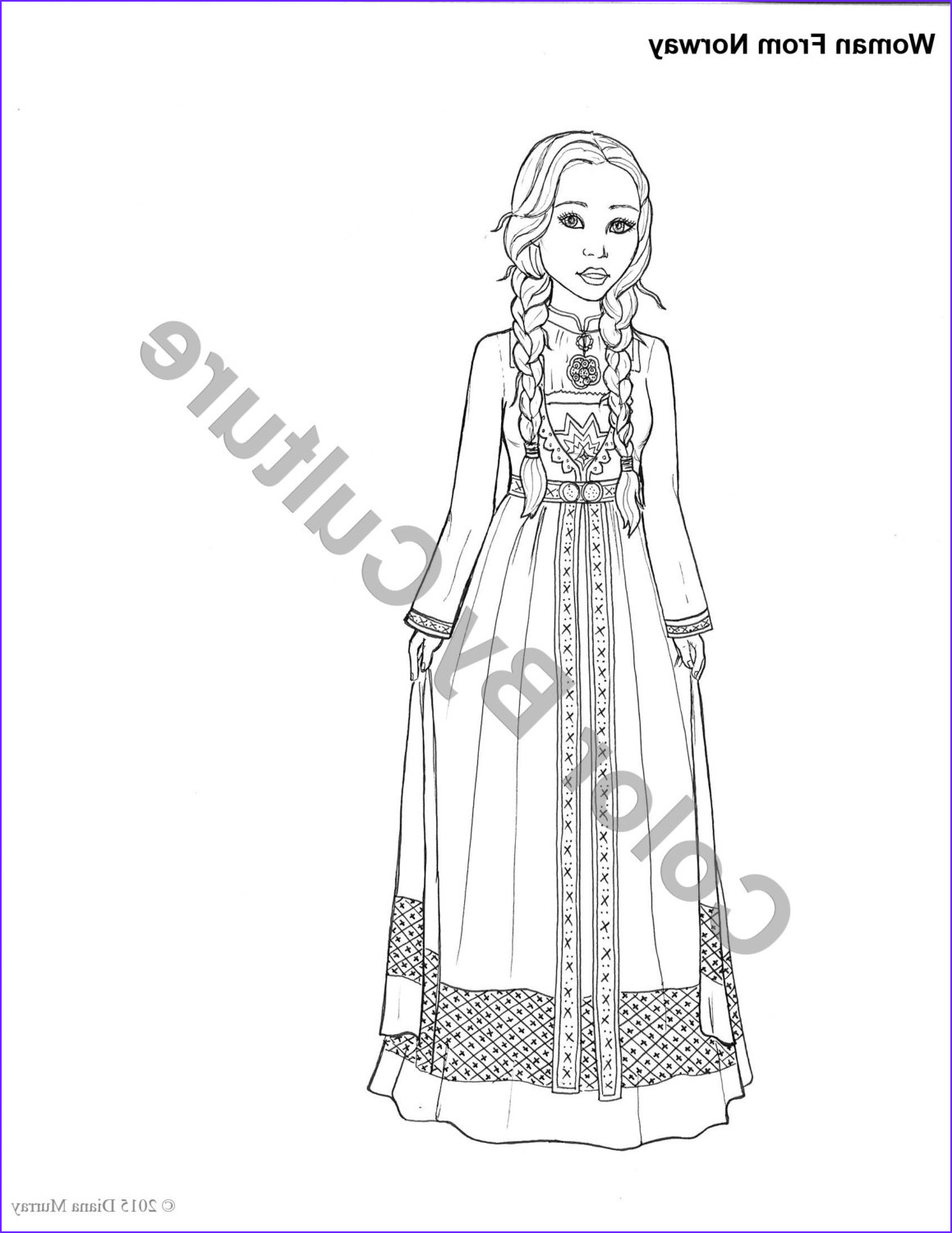 Fashion Coloring Book Beautiful Stock Fashion Coloring Book Printable Around the World Coloring